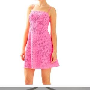 Lilly Pulitzer pink jennilee casual dress